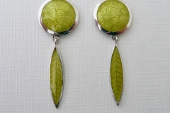 12 ENAMEL leaf earrings