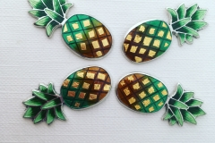 6 Pineapple stud earrings