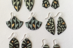 18 Enamelled copper earrings