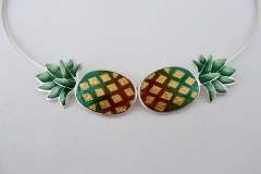 5 Two Pineapple necklace